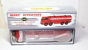 Atlas-Dinky-943-Leyland-Octopus-Tanker-ESSO-Brand-New-In-Box-Reproduction