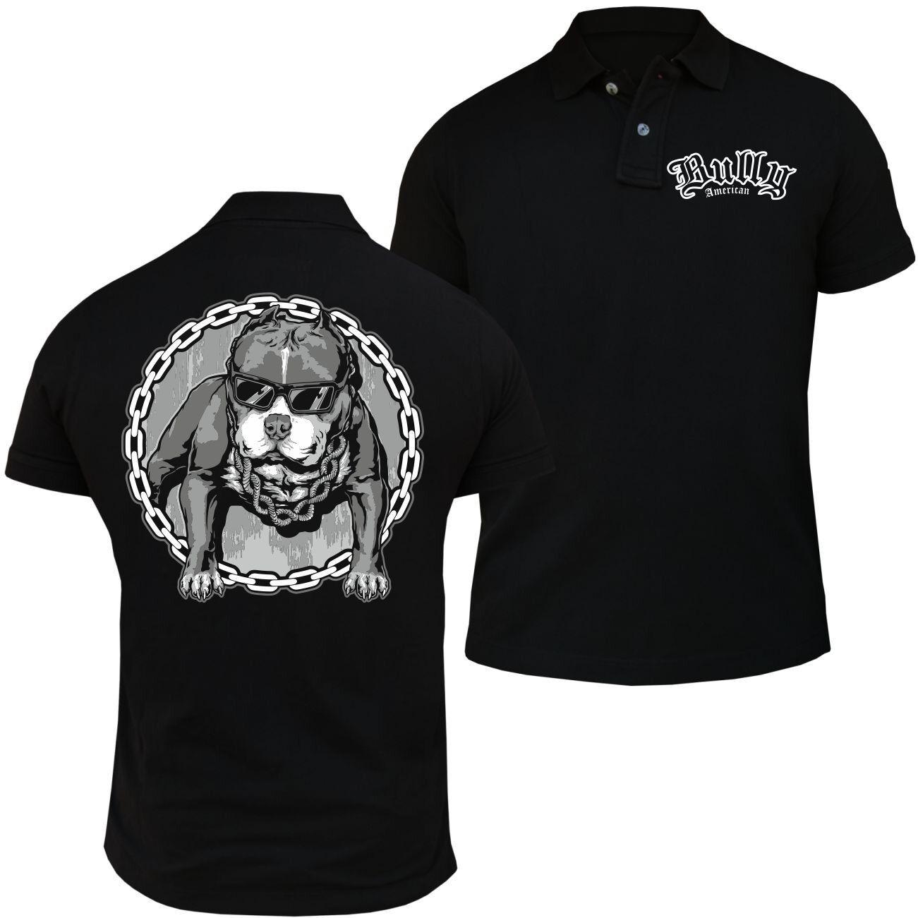 POLO Shirt American American American Bully COOL SUMMER Bulldogs Bullies Hunde Rasse Zucht Welpen  | Qualität Produkt  | Bekannt für seine gute Qualität  | Schöne Farbe  973de2