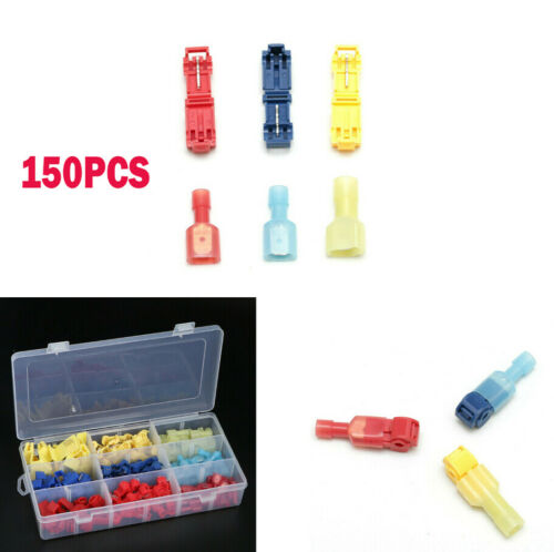 150PCS Quick Splice Wire Connector Crimp Terminals 22-10 AWG Cable Connector