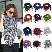 Unisex Checkered Arab Shemagh Keffiyeh Head Neck Scarf Hijab Wrap Shawl Headwear