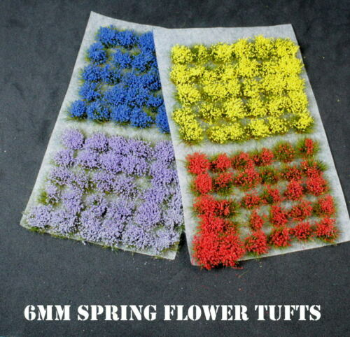 Self Adhesive Multi Colours 120 x Flower Tufts Wargaming Basing Railways