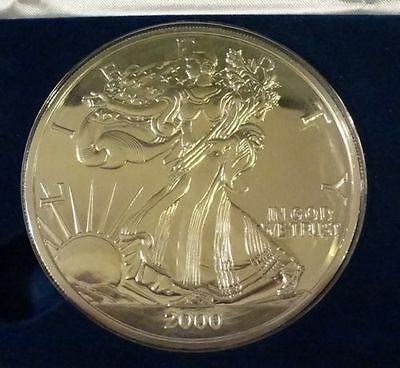 2000 1 2 Troy Pound 999 Fine Silver American Eagle Design Proof
