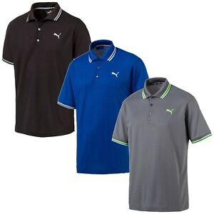 Puma-Golf-Men-039-s-Essential-Pounce-Pique-Polo-Shirts-NEW-2019
