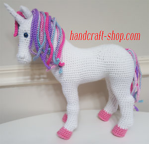 Rainbow Unicorn Crochet Amigurumi Pattern | 290x300
