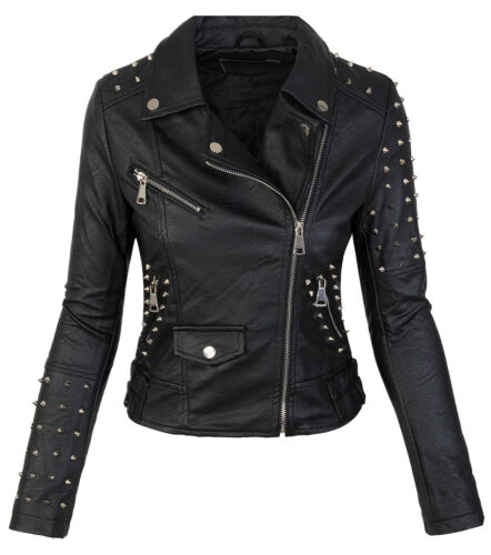 Damen Kunstleder Jacke Biker Jacke 3 Modelle Schwarz Übergangs Jacke M20 NEU