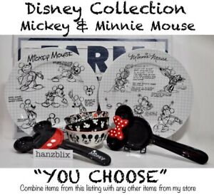 Disney-Collection-Mickey-Minnie-Mouse-Plate-Spoon-Rest-Bowl-034-YOU-CHOOSE-034-NEW-039-19