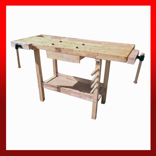 WNS Wooden Workbench Desk / Garage Workshop Craft Hobby Joiner Carpentry