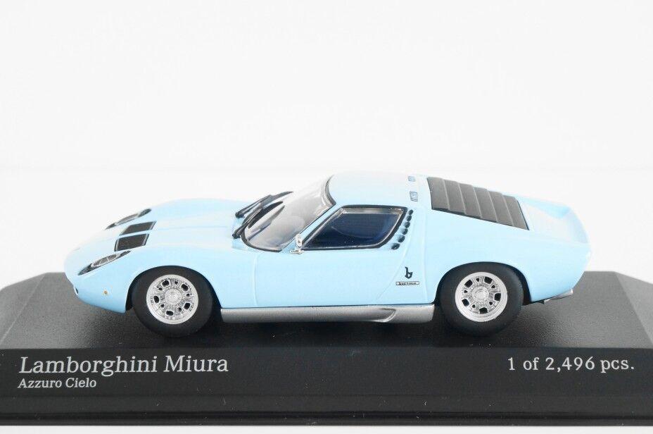 MINICHAMPS 1 43 LAMBORGHINI MIURA 1966 BRIGHT blueE AZZURO CIELO