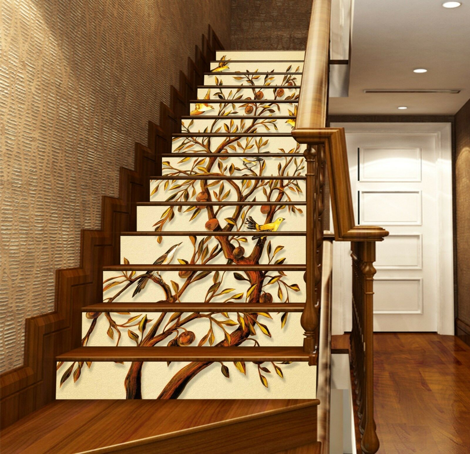 3D Painting Tree Stair Risers Decoration Photo Mural Vinyl Decal WandPapier UK