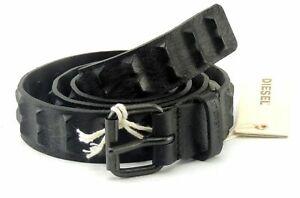 Diesel-Bative-Cintura-Guertel-Belt-Leder-Leather-70-100-86-116cm-Schwarz-Design