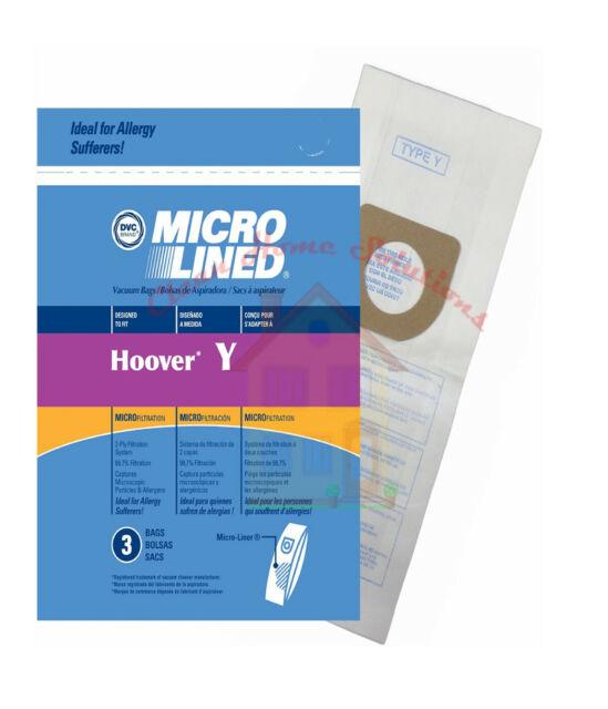 Hoover Type Y Vacuum Bags Micro Filtration -- 9 Pk