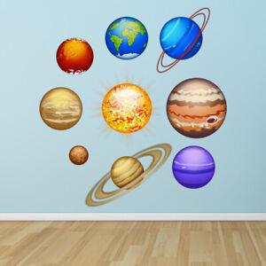 Vinilos Decorativos Planetas.Detalles De Planetas Sistema Solar Vinilos Decorativos Set Ws 46439