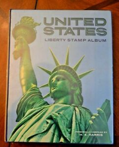 CatalinaStamps-Liberty-US-Stamp-Album-Harris-1966-w-1240-10-amp-26a-Stamps-D30