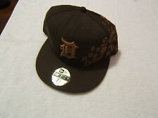 REDUCED Detroit Tigers New Era 59Fifty BROWN EMBROIDERED Fitted Hat 7 1/4. NEW
