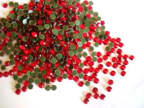 144 Hot Fix Iron On Rhinestone 1 Gross//Craft//Stud *FREE US SHIP SS6 2mm-Red Siam