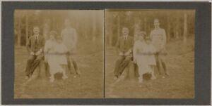 Foto Stereo Amateur Famille Sottotipo Legno Th2n22 Vintage Citrato c1900