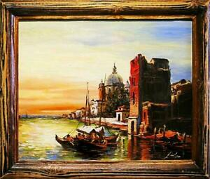 Painting-Oil-Painting-Picture-Oil-Frame-Pictures-Sea-Ships-Oil-Painting-G02989