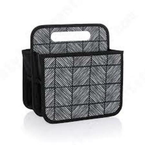 Thirty One Double Duty Caddy Storage Home Organizer bag 31 Chevron Squares BN