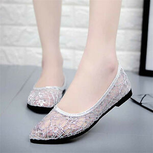 ada5b192c3f Womens Sexy Lace Poiny Ballet Flat Comfy Slip On Loafers Single ...