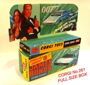 CORGI 269-James Bond Lotus Esprit-Display/riproduzione solo scatola + vassoio.