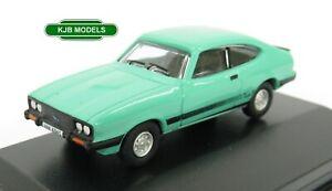 BNIB-OO-GAUGE-OXFORD-1-76-76CAP009-Ford-Capri-MkIII-Peppermint-Sea-Green-Car