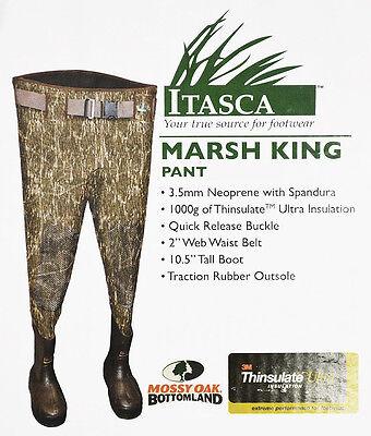 NEW Itasca March King Waist Wader SIZE 11 Regular Mossy Oak Bottomland Camo