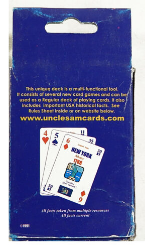 1991 Uncle Sam Playing Cards Decks ^ USA Historical Facts Lot of 5
