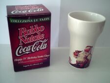 "Tazza COCA COLA Happy 75"" Birthday Santa Claus Haddon Sundblom 1936 nuova"