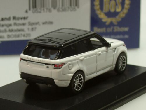 87420-1:87 Weiss range rover sport Bos land rover