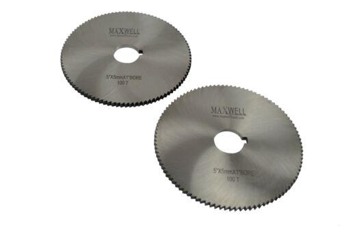 "One Pc Maxwell HSS Milling Slotting Slitting Saw Cutters 5/"" x 5 mm x 1/"""