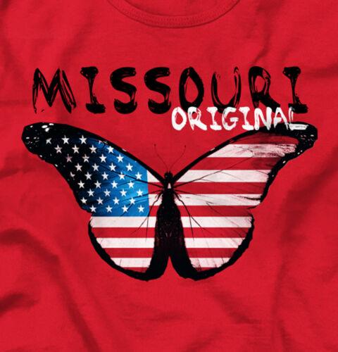 Missouri Original Butterfly America Souvenir Tank Tops T-Shirts Tees For Womens