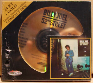 AUDIO FIDELITY GOLD CD AFZ-095: BILLY JOEL - 52nd Street - 2010 USA SEALED