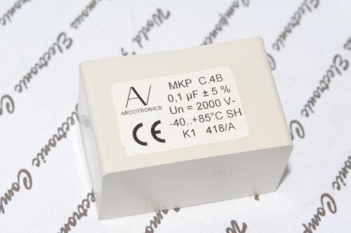 MKP C.4B ARCOTRONICS SNUBBER MKP 0.1uF 2000V 5/% Film Capacitor 1pcs