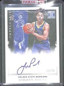 2019-20 Panini Impeccable Basketball Rookie Autograph #IR-JPL Jordan Poole