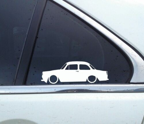 for Volkswagen VW Type 3 notchback 2x Lowered car outline stickers