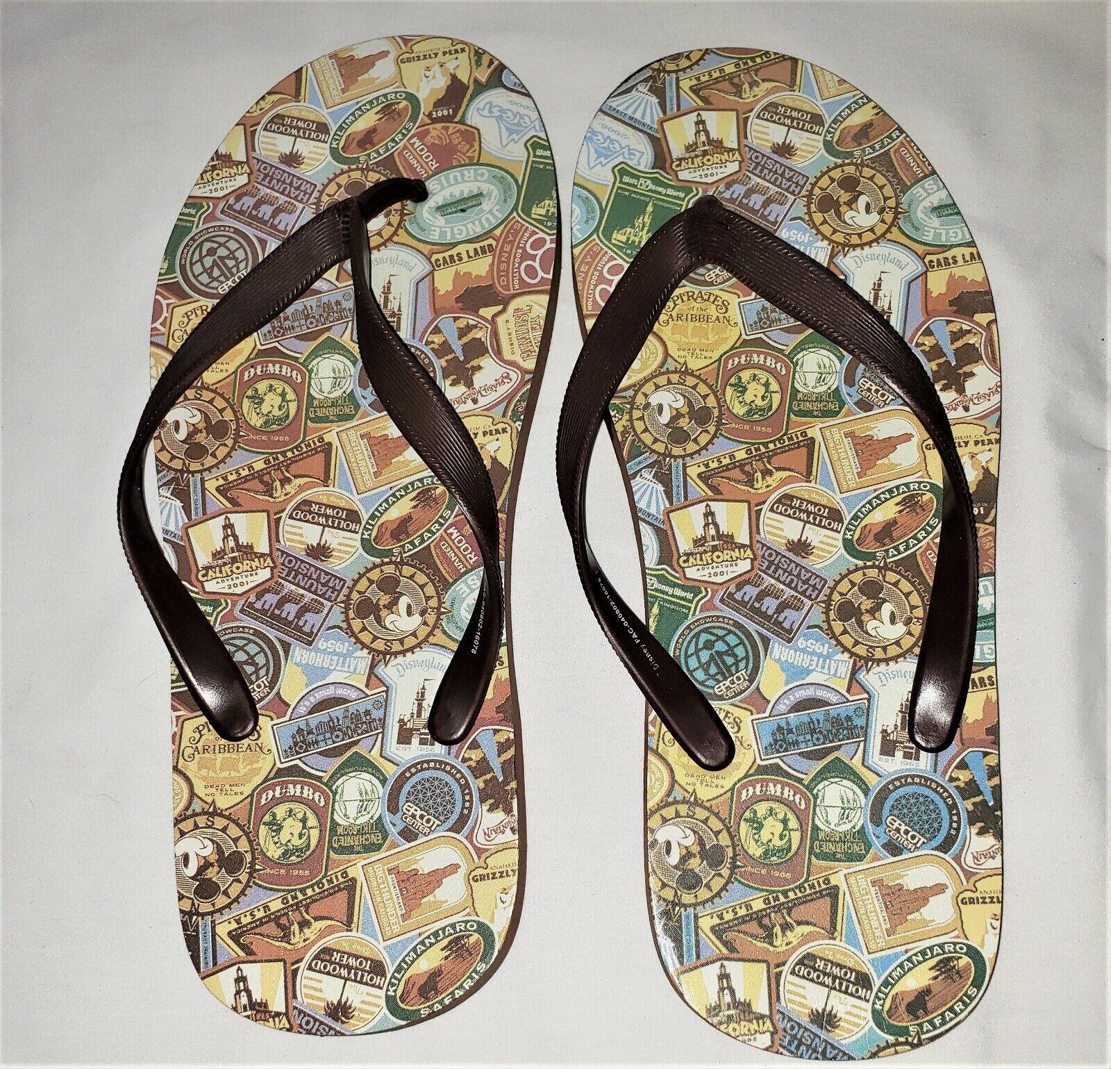Disney Parks Brown Flip Flops Men's Size 8-9
