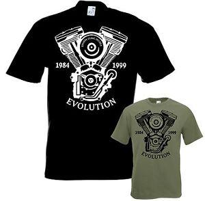 Bikershirt-EVOLUTION-Motorrad-Evo-t-shirt-Chopper-Bobber-Shovelhead-Twin-Cam