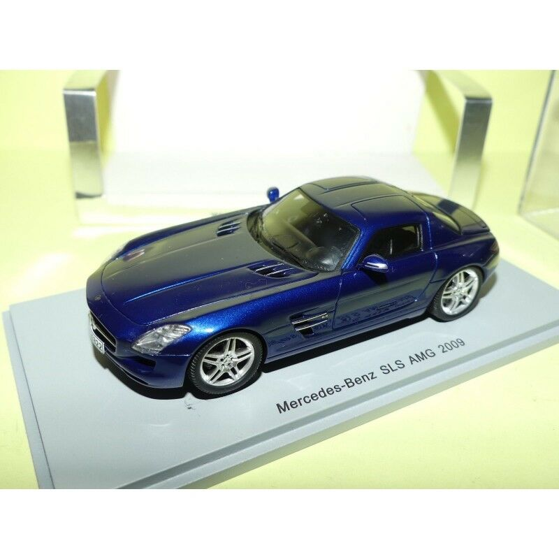 MERCEDES SLS AMG AMG AMG 2009 blue SPARK S1025 1 43 114758