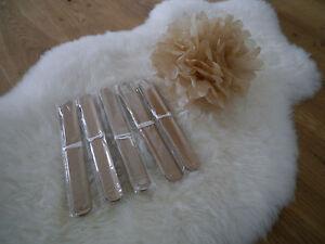 10x-PomPoms-Gold-25cm-Hochzeit-Geburtstag-Deko-Papierblume-PomPon-Feier-Party
