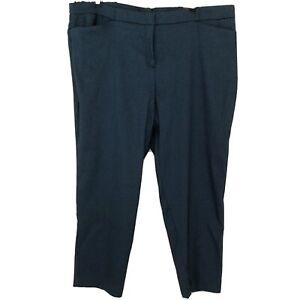 Worthington-Slim-Fit-Straight-Leg-Dress-Pants-Size-18W-Cayman-Blue-Texture-NWT