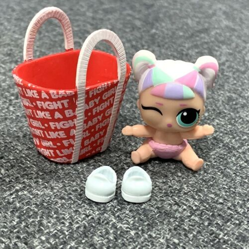 rare Lil Unicorn with bag Lol Surprise Dolls Lil Sister Authentic color changed
