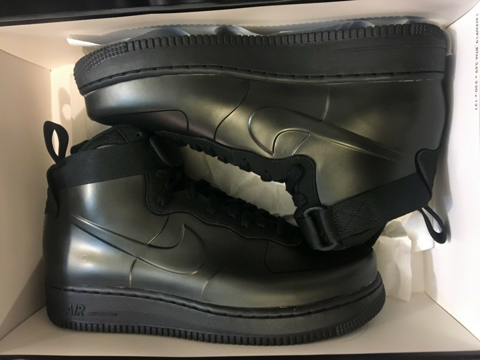 Nuove nike air force 1 foamposite cup af1 ciao cinghia blk scarpa ah6771-001 uomini 8