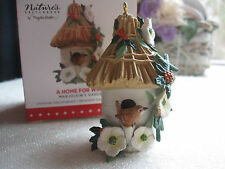 Hallmark Marjolein Bastin Garden Nature's Sketchbook Wren Birdhouse Ornament New