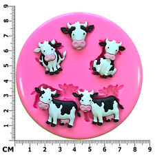 Lindo Leche Vacas Corral animales silicona molde por FAIRIE bendiciones