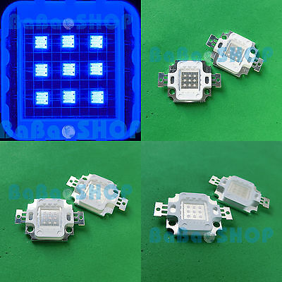 5x Royal Blue 450nm+5x Cool White 20000K High Power LED 10W light for Aquarium