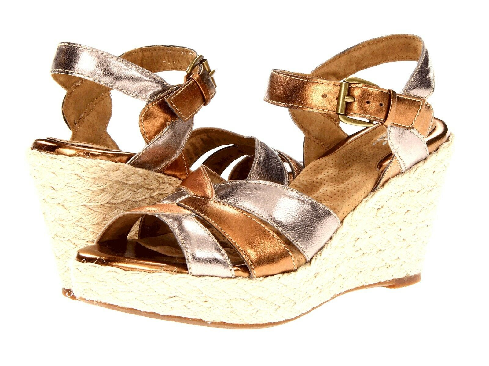 New SoftWalk St. Helena Helena Helena leather wedge donna scarpe Dimensione 9.5 478d64