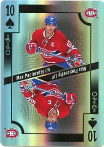 17-18-O-PEE-CHEE-OPC-PLAYING-CARD-FOIL-TEN-SPADES-MAX-PACIORETTY-CANADIENS-39366