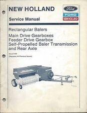 Ford New Holland Baler Main Feeder Drive Gearbox Service Repair Manual #40331203
