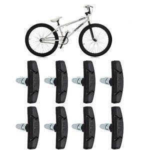 V Brake Pads Threaded Nut /& Washers Bike Replacement Break Blocks All Colours