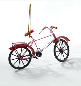 image is loading kurt s adler red metal wire bicycle red - Bicycle Christmas Ornament